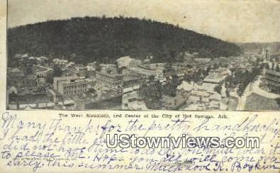 West Mountain - Hot Springs, Arkansas AR Postcard