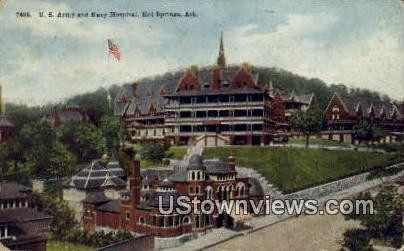 US Army & Navy Hospital - Hot Springs, Arkansas AR Postcard