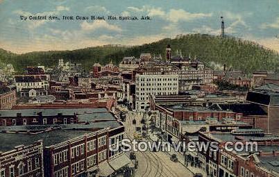 Central Ave, Como Hotel - Hot Springs, Arkansas AR Postcard