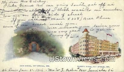Cave Spring, Majestic Hotel - Hot Springs, Arkansas AR Postcard