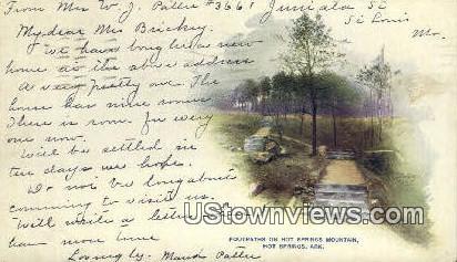 Hot Springs Mountain - Arkansas AR Postcard