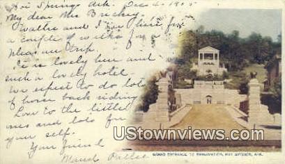 Reservation - Hot Springs, Arkansas AR Postcard