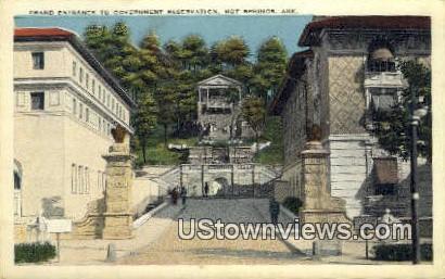 Government Reservation - Hot Springs, Arkansas AR Postcard