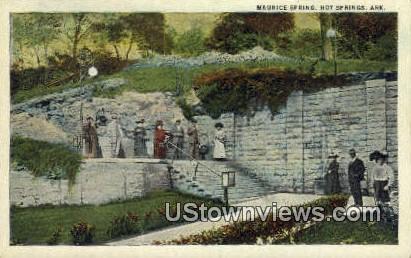 Maurice Spring - Hot Springs, Arkansas AR Postcard