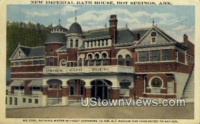 New Imperial Bath House - Hot Springs, Arkansas AR Postcard