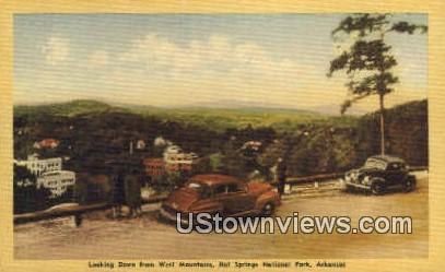West Mountains - Hot Springs National Park, Arkansas AR Postcard