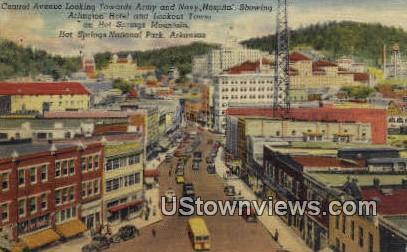 Central Ave, Army & Navy Hospital - Hot Springs National Park, Arkansas AR Postcard