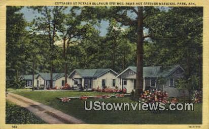 Potash Sulphur Springs - Hot Springs National Park, Arkansas AR Postcard