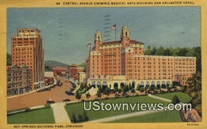 Central Ave, Medical Arts Bldg - Hot Springs National Park, Arkansas AR Postcard