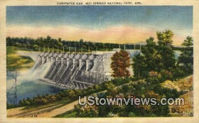 Carpenter Dam - Hot Springs National Park, Arkansas AR Postcard