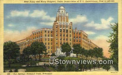 New Army & Navy Hospital - Hot Springs National Park, Arkansas AR Postcard