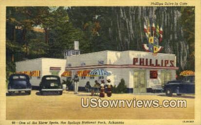 Phillips Drive In Cafe - Hot Springs National Park, Arkansas AR Postcard