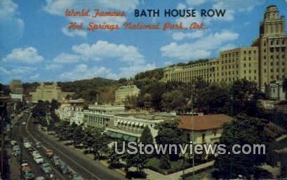 Bath House Row - Hot Springs National Park, Arkansas AR Postcard