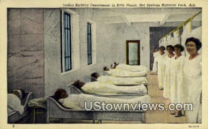 Ladies Bathing Department, Bath House - Hot Springs National Park, Arkansas AR Postcard