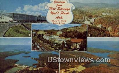 Hot Springs National Park, AR,     ;     Hot Springs National Park, Arkansas Postcard