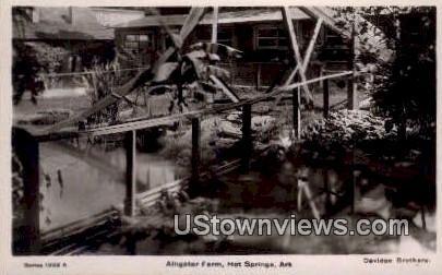 Alligator Farm - Hot Springs, Arkansas AR Postcard