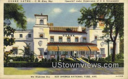 Ozark Baths - Hot Springs National Park, Arkansas AR Postcard