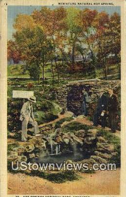 Mini Natural Hot Springs - Hot Springs National Park, Arkansas AR Postcard