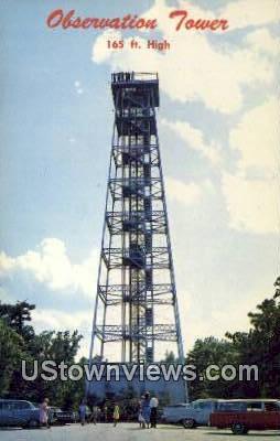 Observation Tower - Hot Springs National Park, Arkansas AR Postcard