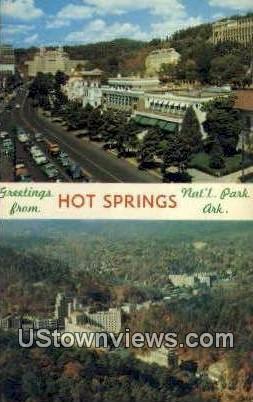 Hot Springs Mountain - Hot Springs National Park, Arkansas AR Postcard