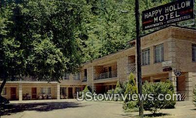 Happy Hollow Motel - Hot Springs National Park, Arkansas AR Postcard
