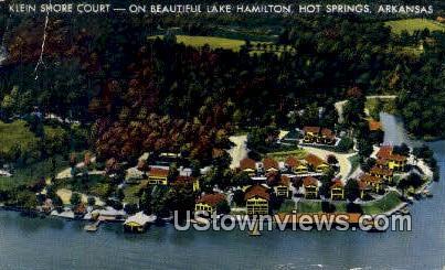 Klein Shore Court - Hot Springs, Arkansas AR Postcard