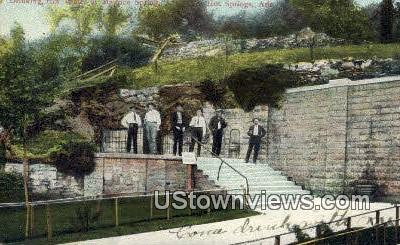 Drinking Hot Water, Maurice Spring - Hot Springs, Arkansas AR Postcard