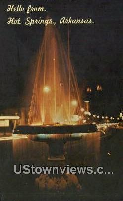 Crystal Water Fountain, Park Ave - Hot Springs National Park, Arkansas AR Postcard