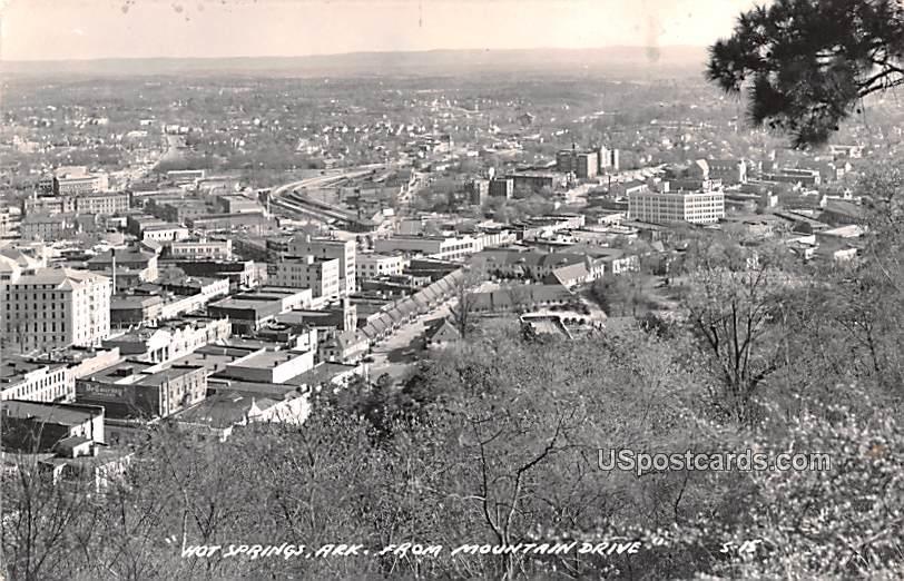 From Mountain Drive - Hot Springs, Arkansas AR Postcard