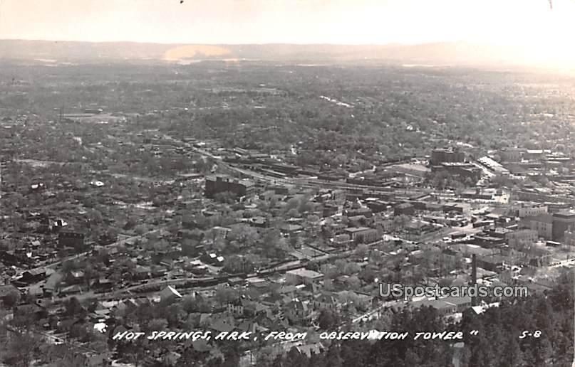From Observation Tower - Hot Springs, Arkansas AR Postcard