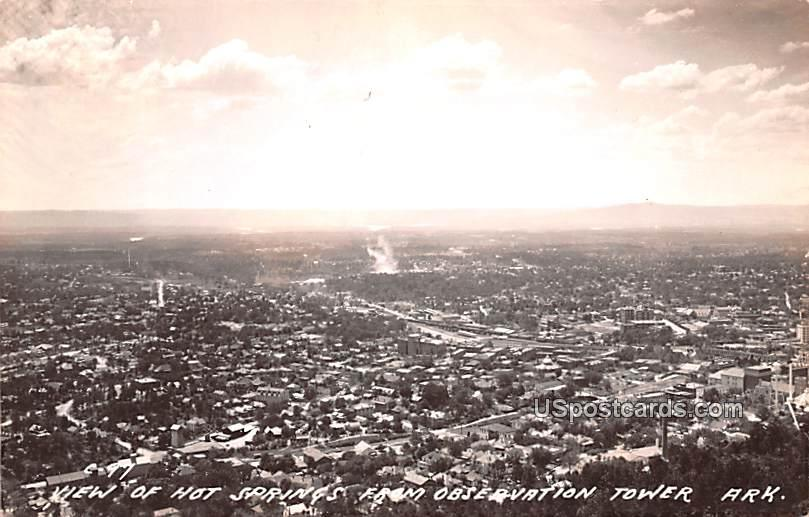 View from Observation Tower - Hot Springs, Arkansas AR Postcard