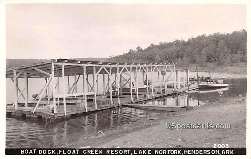 Boat Dock - Henderson, Arkansas AR Postcard