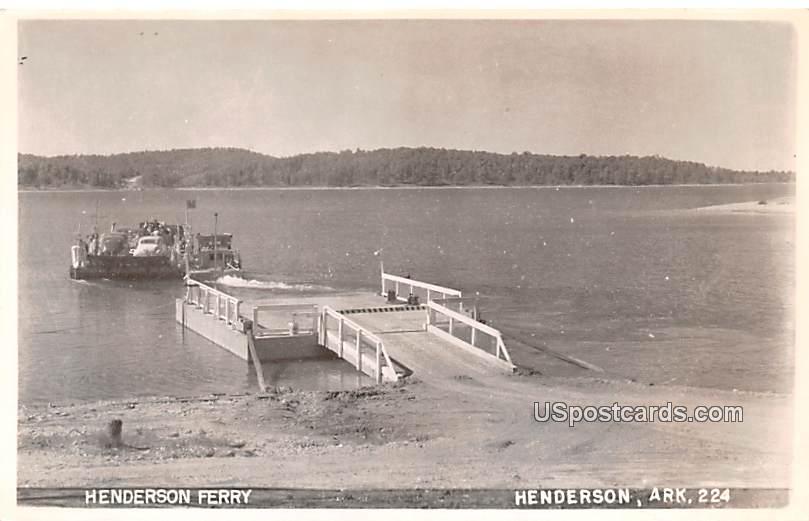 Henderson Ferry - Arkansas AR Postcard