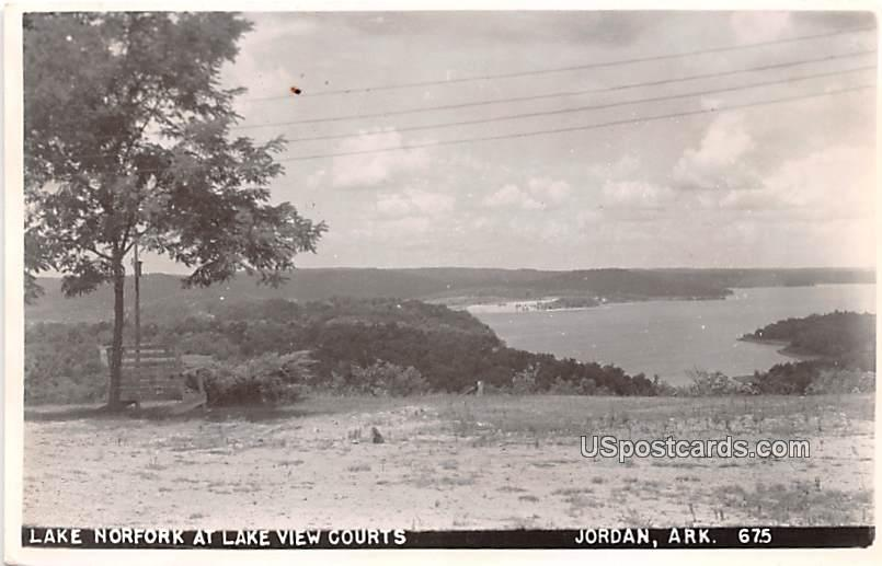 Lake Norfork at Lake View Courts - Jordan, Arkansas AR Postcard