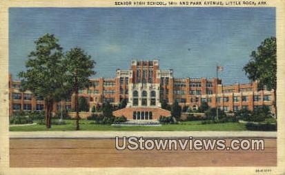 Senior High School, Little Rock - Arkansas AR Postcard