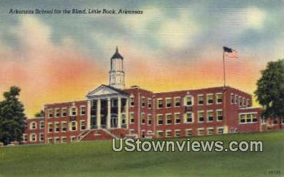 Arkansas School for the Blind - Little Rock Postcard