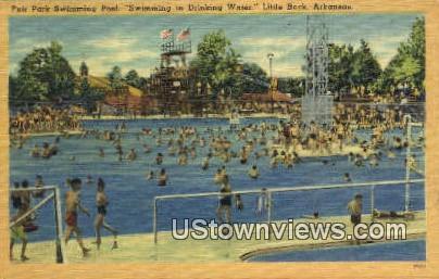 Fir Park Swimming Pool - Little Rock, Arkansas AR Postcard