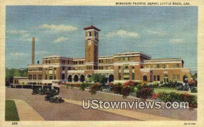 Missouri Pacific Depot - Little Rock, Arkansas AR Postcard