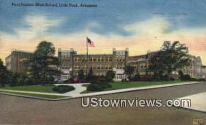 Paul Dunbar High School - Little Rock, Arkansas AR Postcard