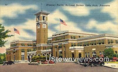 Missouri Pacific RR Station - Little Rock, Arkansas AR Postcard