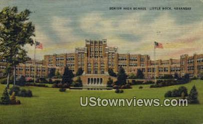 Senior High School - Little Rock, Arkansas AR Postcard