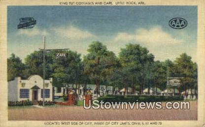 King Tut Cottages & Caf'Ñ¢ - Little Rock, Arkansas AR Postcard