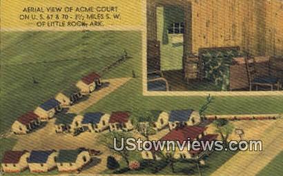 Acme Court - Little Rock, Arkansas AR Postcard