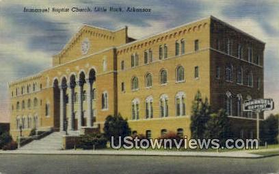 Immanuel Baptist Church - Little Rock, Arkansas AR Postcard