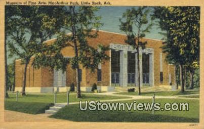 Museum of Fine Arts, MacArthur Park - Little Rock, Arkansas AR Postcard