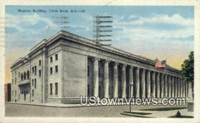 Masonic Bldg - Little Rock, Arkansas AR Postcard
