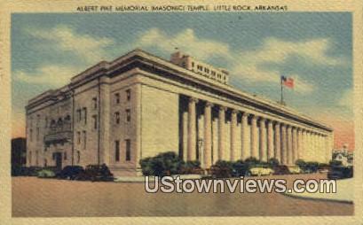 Albert Pike Memorial Temple - Little Rock, Arkansas AR Postcard