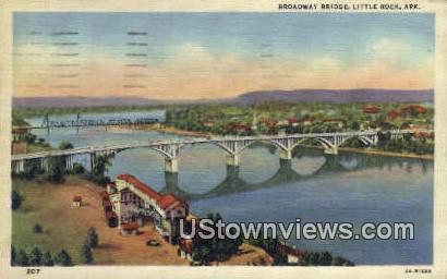 Broadway Bridge - Little Rock, Arkansas AR Postcard