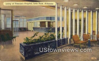 Lobby, Veteran's Hospital - Little Rock, Arkansas AR Postcard