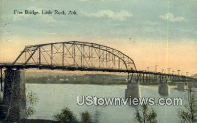 Free Bridge - Little Rock, Arkansas AR Postcard